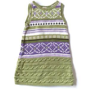 Gymboree Girl Kid Sweater Dress Fair Isle Knit 3